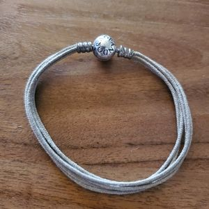 Pandora Gray Cord Bracelet